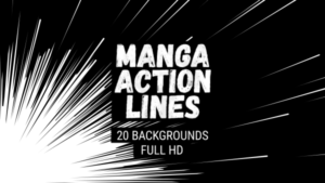 Animated Manga Action Lines Background 14
