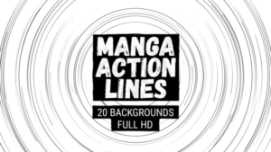 Animated Manga Action Lines Background 15