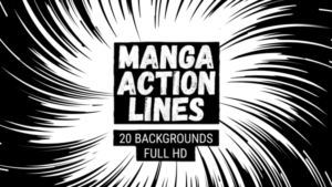 Animated Manga Action Lines Background 16