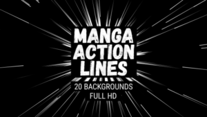 Animated Manga Action Lines Background 17