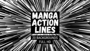 Animated Manga Action Lines Background 18