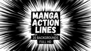Animated Manga Action Lines Background 19