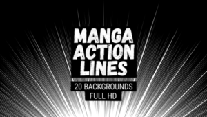 Animated Manga Action Lines Background 20