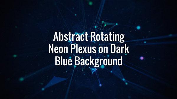 Seamlessly looping rotating multicolored VJ plexus backdrop