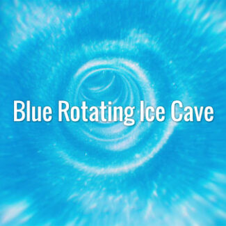 Blue Rotating Ice Cave