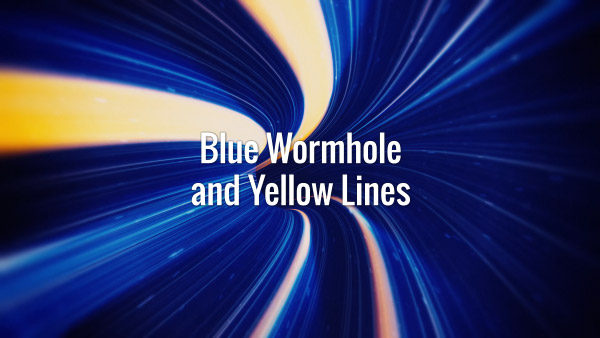Seamlessly looping fast-moving blue tunnel backdrop and yellow speed lines