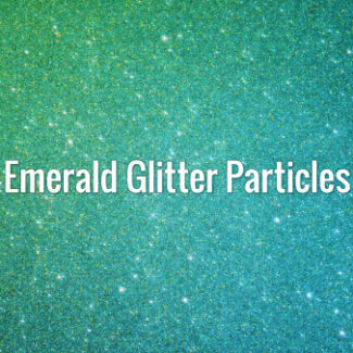 Emerald Glitter Particles