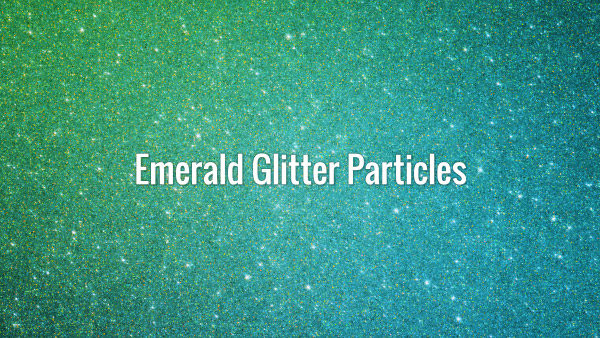 Seamlessly looping sparkling green particles animated background