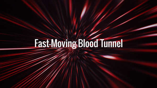 Seamlessly looping fast-moving dark red wormhole backdrop