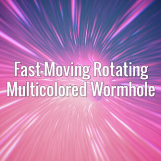 Fast-Moving Rotating Multicolored Wormhole