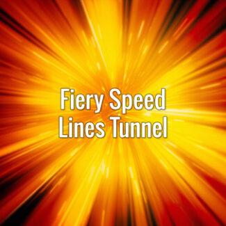 Fiery Speed Lines Tunnel