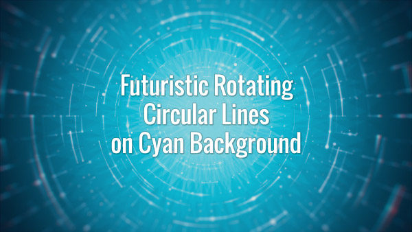 Futuristic Rotating Circular Lines on Cyan Background