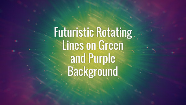 Futuristic Rotating Lines and on Green and Purple Background