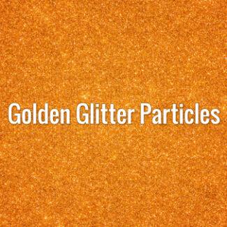 Golden Glitter Particles