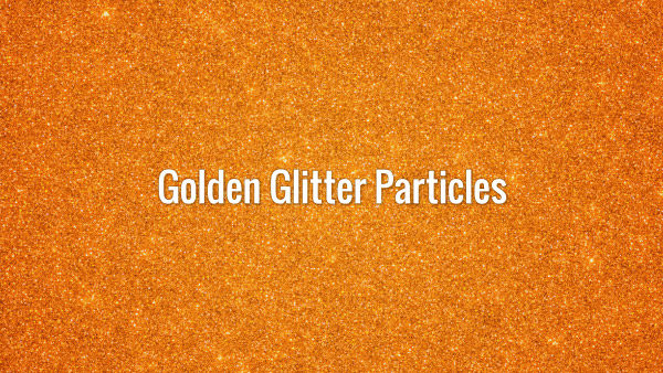 Seamlessly looping sparkling golden particles animated background