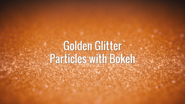 Seamlessly looping shiny golden particles with bokeh