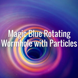 Magic Blue Rotating Wormhole with Particles