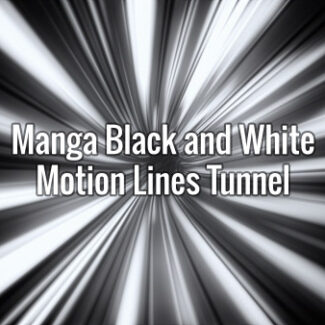 Manga Black and White Motion Lines Tunnel
