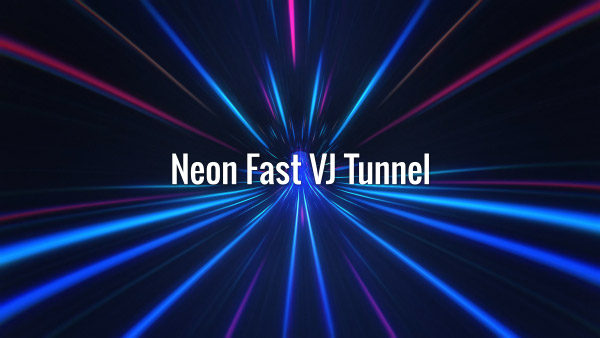 Seamlessly looping fast-moving futuristic blue and violet tunnel road