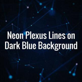 Neon Plexus Lines on Dark Blue Background