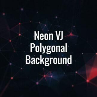 Neon VJ Polygonal Background