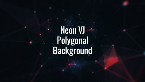 Seamlessly looping rotating neon plexus backdrop