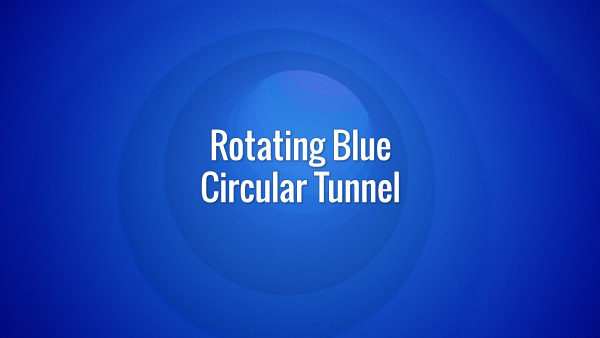 Seamlessly looping fast-moving rotating blue tunnel backdrop