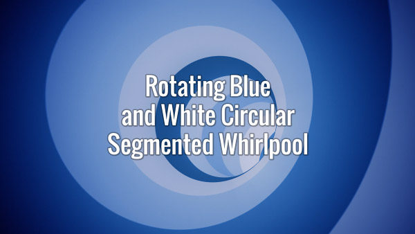 Seamlessly looping fast-moving rotating blue and white tunnel backdrop