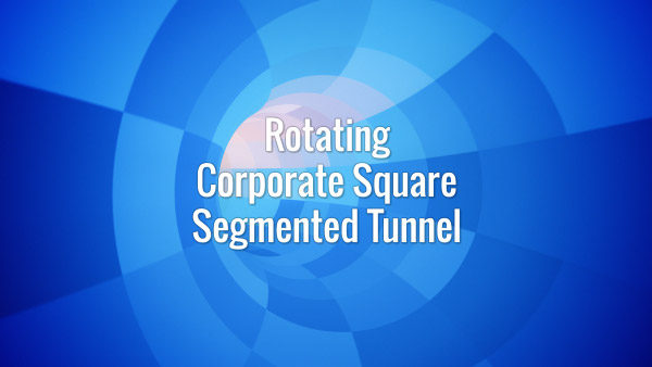 Seamlessly looping fast-moving rotating blue squared pattern tunnel backdrop