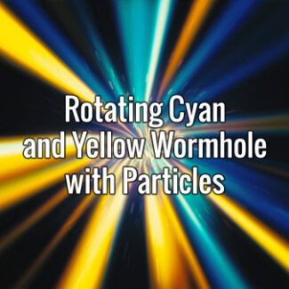 Rotating Cyan and Yellow Wormhole with Particles