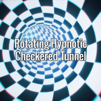 Rotating Hypnotic Checkered Tunnel