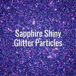 Sapphire Shiny Glitter Particles