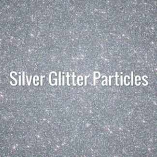 Silver Glitter Particles
