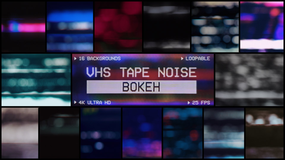 VHS Tape Noise Bokeh Pack