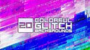 20 Colorful Glitch Backgrounds