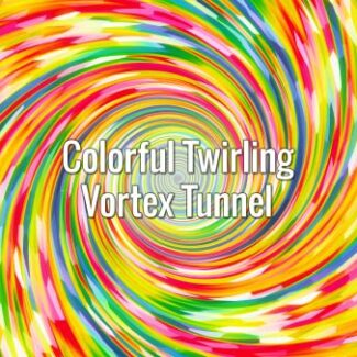 Seamlessly looping bright multi colored swirling tunnel. Animated background.