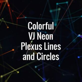 Seamlessly looping rotating multi colored lines, triangles and particles. Animated backdrop.