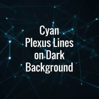 Cyan Plexus Lines on Dark Background