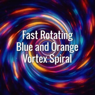 Seamlessly looping glowing blue and orange swirling tunnel. Animated backdrop.