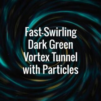 Seamlessly looping green and yellow spiral vortex and particles. Animated background.