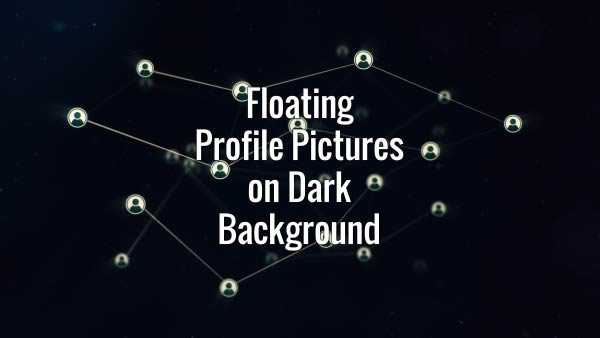Seamlessly looping floating profile pictures. Animated background.