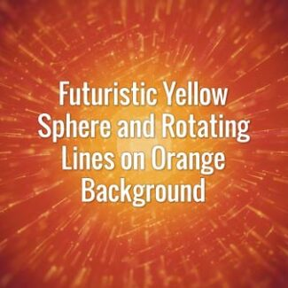 Hi-tech seamlessly loopable yellow globe and rotating lines, animated backdrop.