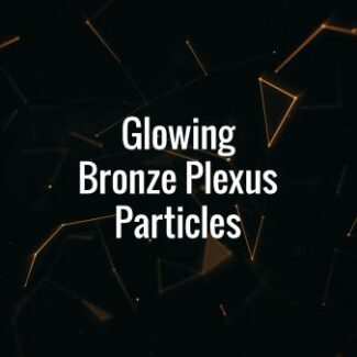 Glowing Bronze Plexus Particles