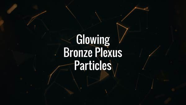 Seamlessly looping floating bronze lines, triangles and particles. Animated backdrop.