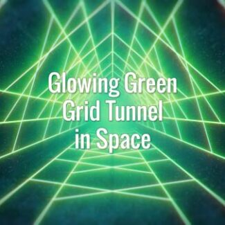 Glowing Green Grid Tunnel in Space