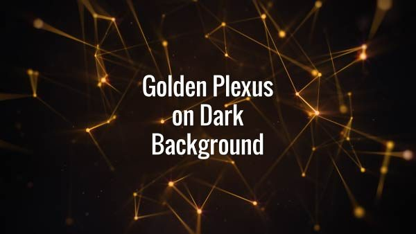 Seamlessly looping floating golden lines, triangles and particles. Animated backdrop.