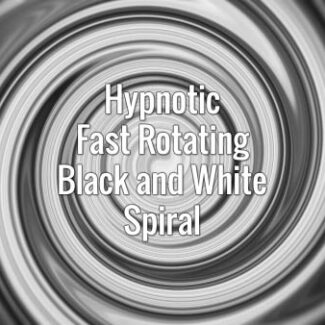 Seamlessly looping black and white hypnotic swirling vortex. Animated background.