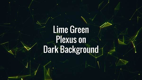 Seamlessly looping floating green lines, triangles and particles. Animated backdrop.