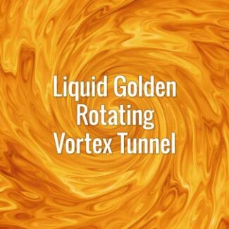 Seamlessly looping bright golden swirling spiral. Animated background.