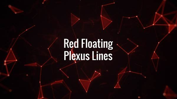 Seamlessly looping rotating red lines, triangles and particles. Animated backdrop.